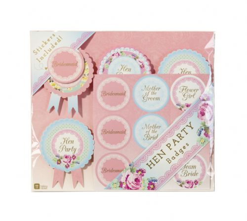 Hen Party Badges 6pk